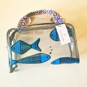 {Vera Bradley} beach cosmetic bag in go fish teal
